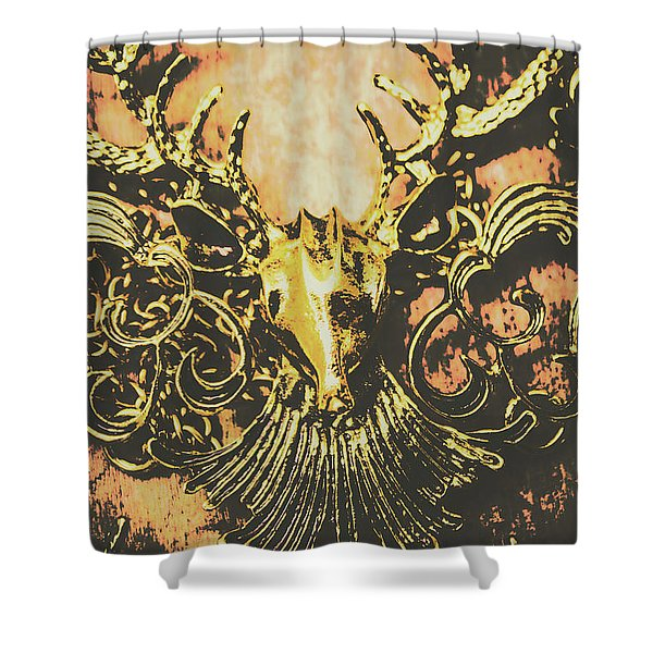 Golden Stag Shower Curtain