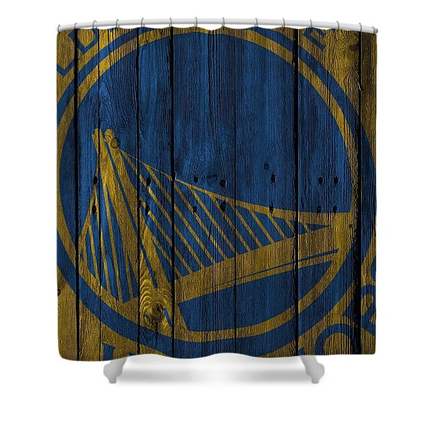 Golden State Warriors Wood Fence Shower Curtain