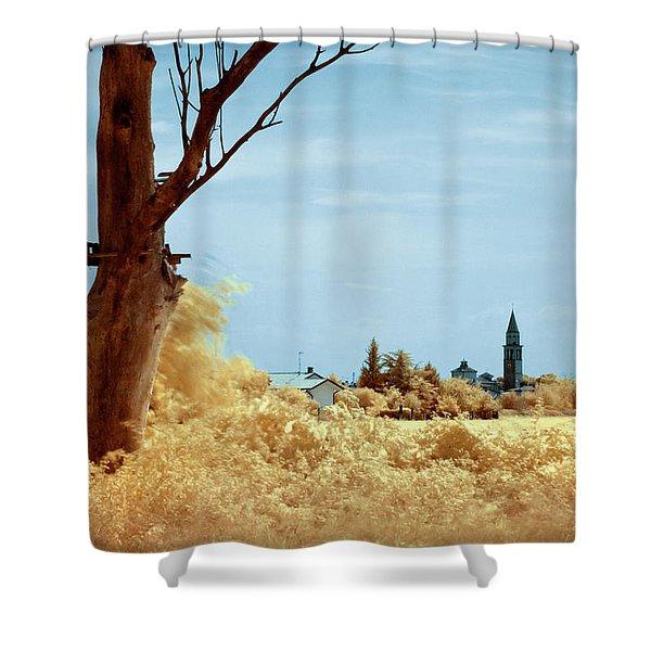 Golden Summer Shower Curtain
