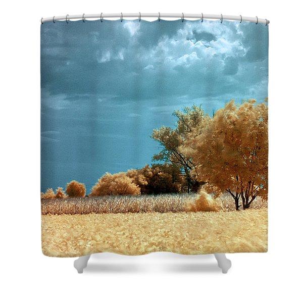Golden Summerscape Shower Curtain