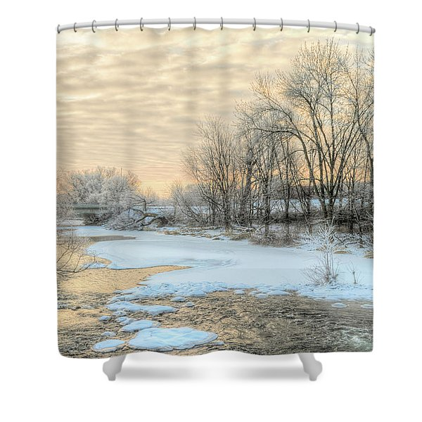 Golden Sunrise Signed Shower Curtain