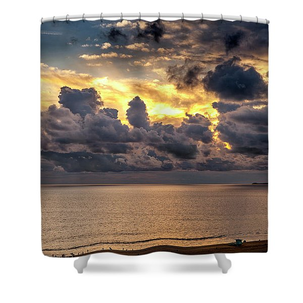 Golden Surf - Point Dume, California Shower Curtain
