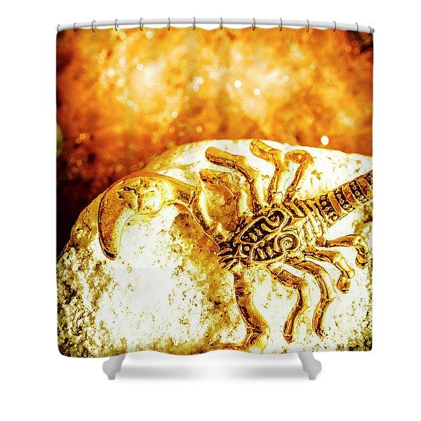 Golden Treasures Shower Curtain