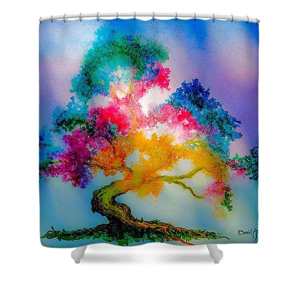 Da183 Golden Tree Daniel Adams Shower Curtain