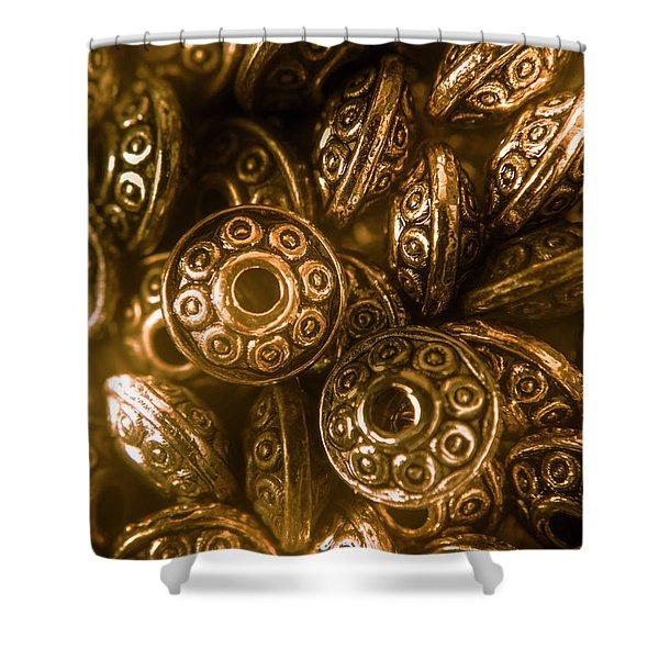 Golden Ufos From Egyptology  Shower Curtain