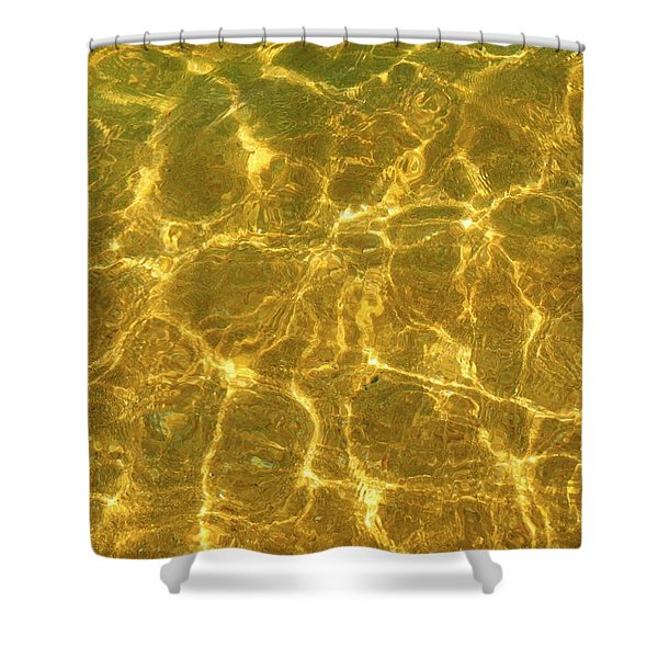 Golden Wave Shower Curtain