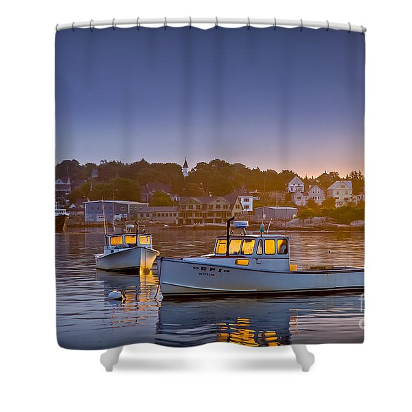 Golden Windows Shower Curtain