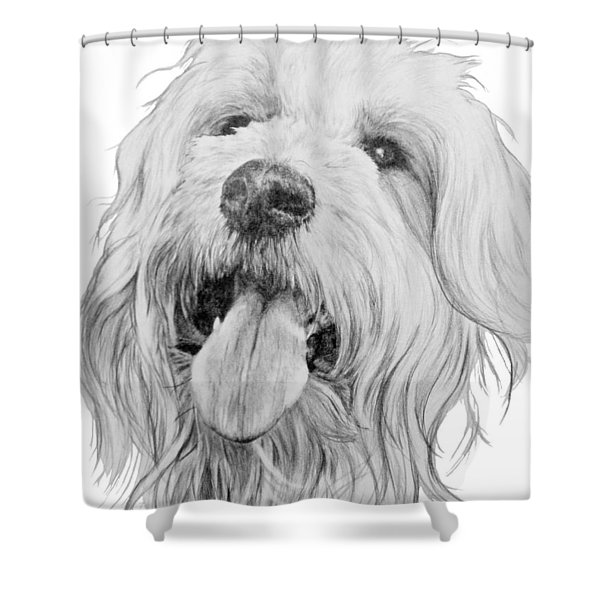 Goldendoodle Shower Curtain
