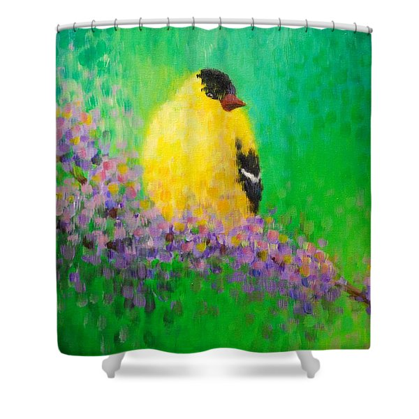 Goldfinch II Shower Curtain