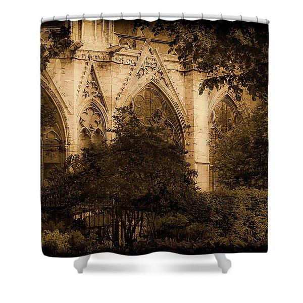 Paris, France - Goldoni In The Park Shower Curtain
