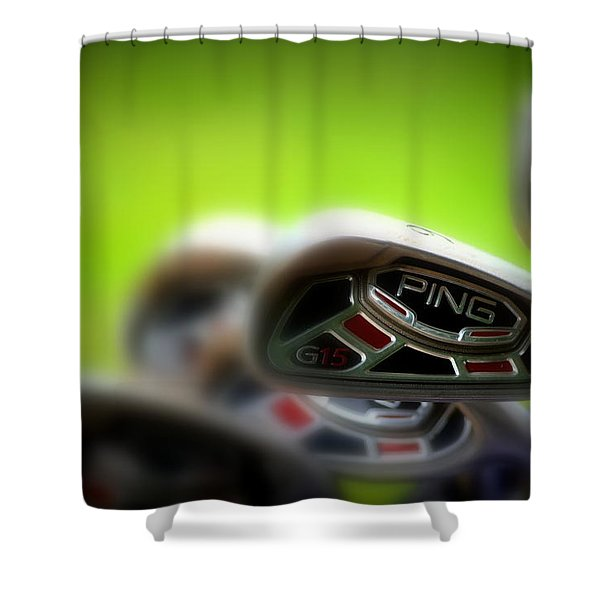 Golf Clubs 2 Shower Curtain