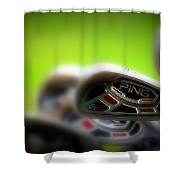 Golf Clubs 2 Shower Curtain