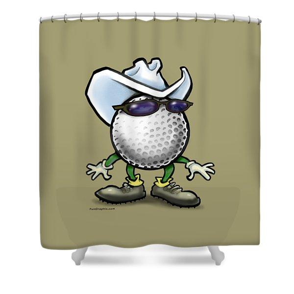 Golf Cowboy Shower Curtain