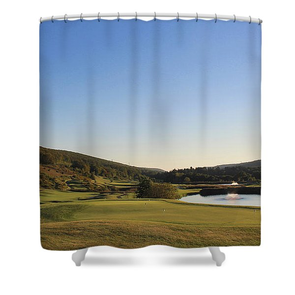 Golf - Natural Curves Shower Curtain