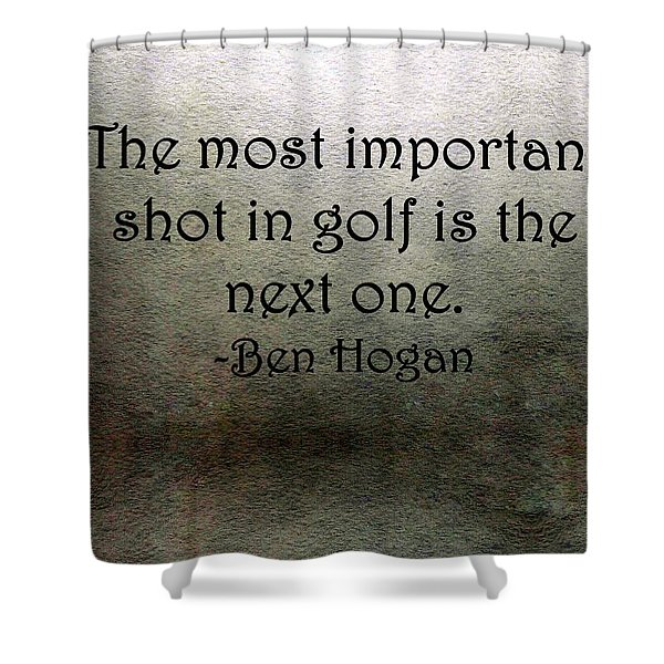 Golf Quote Shower Curtain