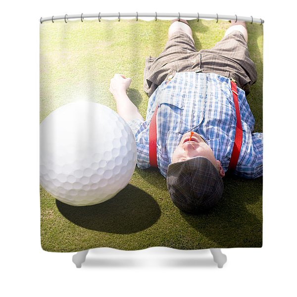Golfer Didnt See That One Coming Shower Curtain