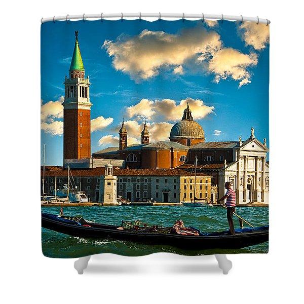 Gondola And San Giorgio Maggiore Shower Curtain