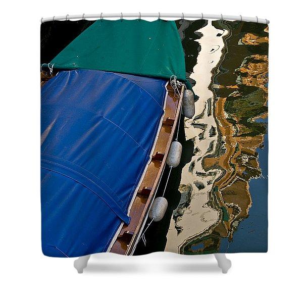 Gondola Reflection Shower Curtain