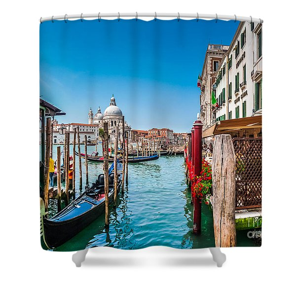 Gondola Ride In Venice Shower Curtain