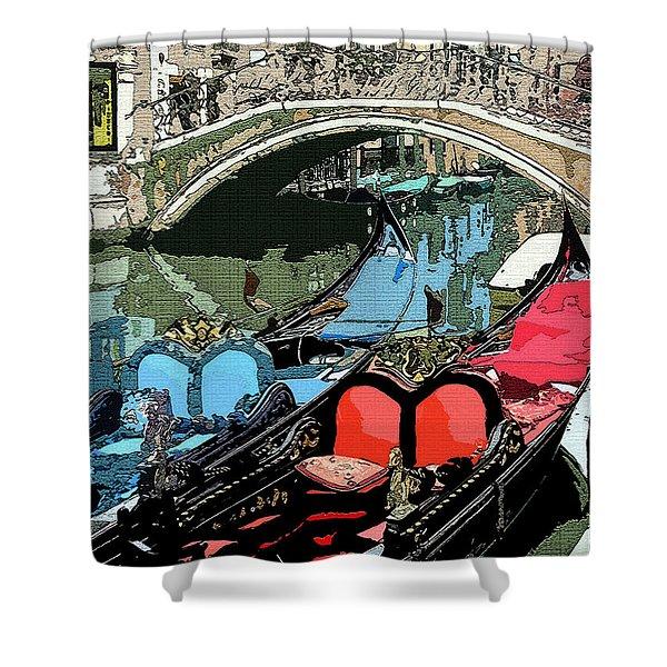 Gondolas Fresco  Shower Curtain