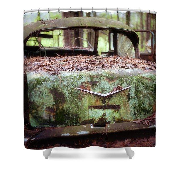 Gone Girl Old Car Image Art Shower Curtain