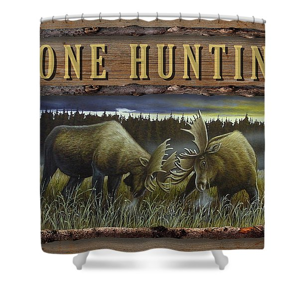 Gone Hunting - Locked At Lac Seul Shower Curtain