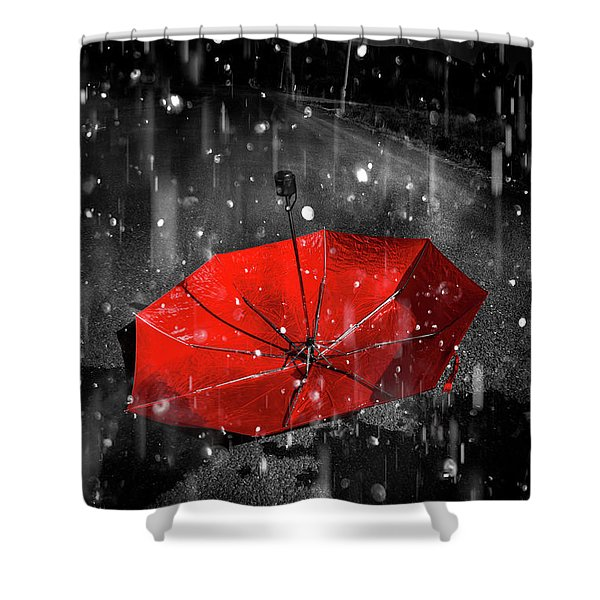 Gone With The Rain Shower Curtain