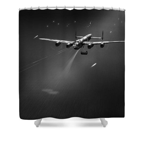Goner From Dambuster J-johnny Bw Version Shower Curtain