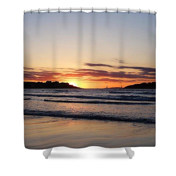 Good Harbor Beach At Sunrise Gloucester Ma Shower Curtain