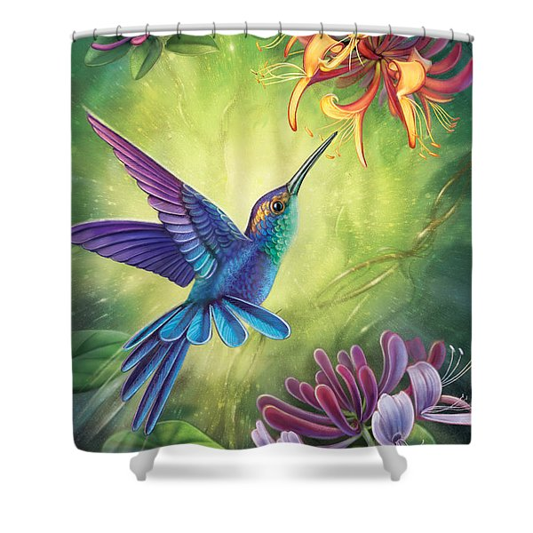 Good Luck - Honeysuckle Shower Curtain