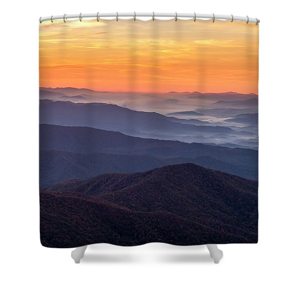 Good Morning Clingmans Dome In The Smokies Shower Curtain