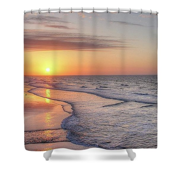 Good Morning Grand Strand Shower Curtain