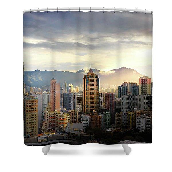 Good Morning, Hong Kong Shower Curtain