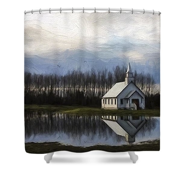 Good Morning - Hope Valley Art Shower Curtain