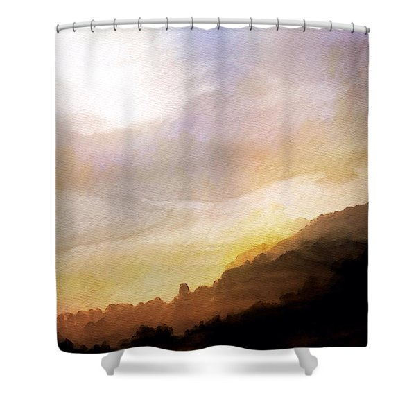 Shower Curtain featuring the painting Good Morning by Mark Taylor