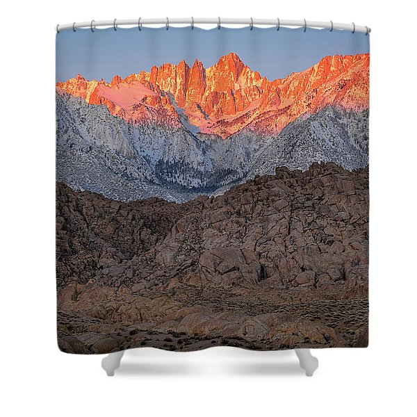 Good Morning Mount Whitney Shower Curtain
