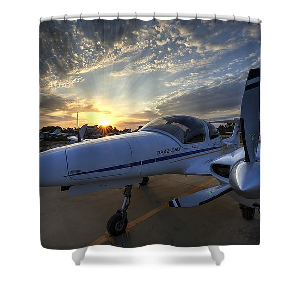 Good Morning On The Ramp Shower Curtain