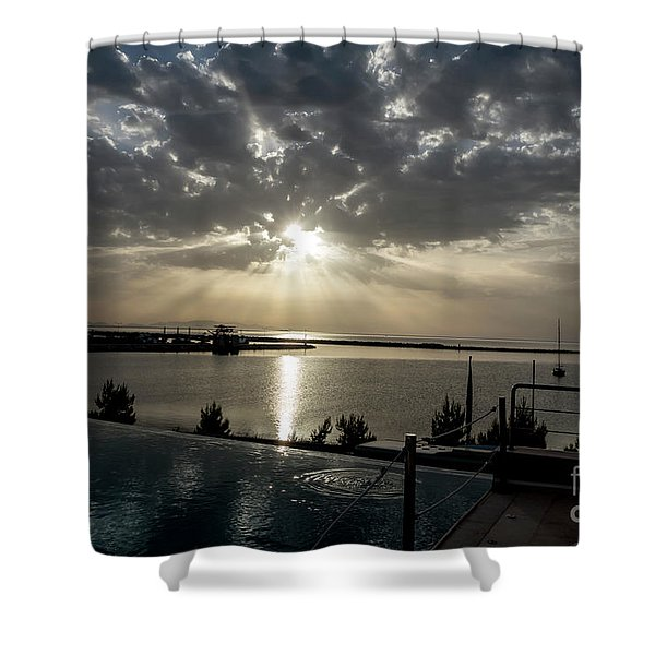 Good Morning Vacation Shower Curtain