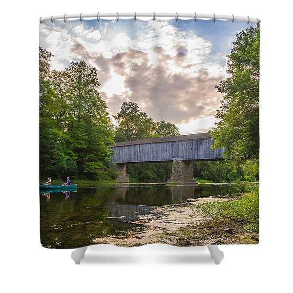 Good To Canoe Shower Curtain