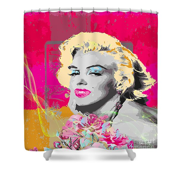 Shower Curtain featuring the digital art Goodbye Norma Jean  by Eleni Mac Synodinos