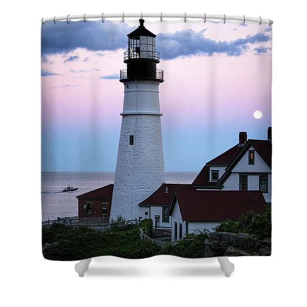 Goodnight Moon, Goodnight Lighthouse  -98588 Shower Curtain