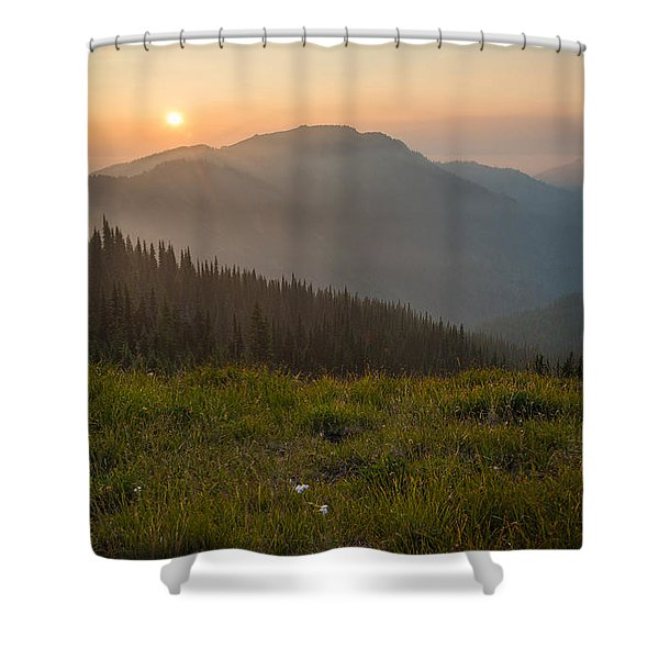 Goodnight Mountains Shower Curtain