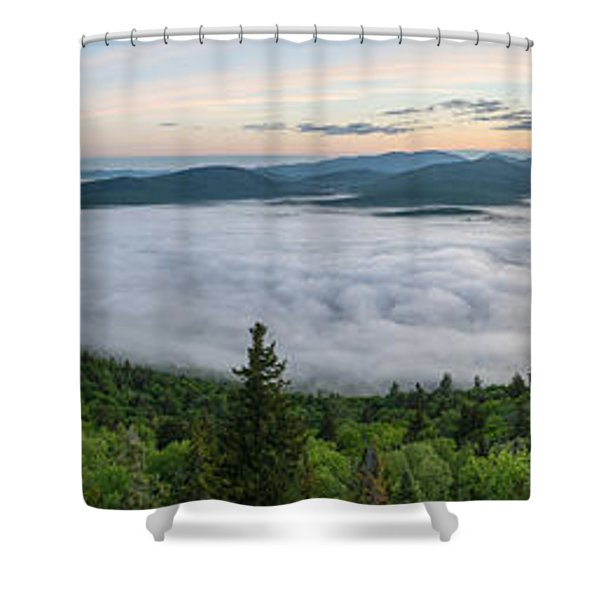 Goodnow Mountain Panorama Shower Curtain