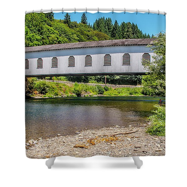 Goodpasture Covered Bridge Shower Curtain