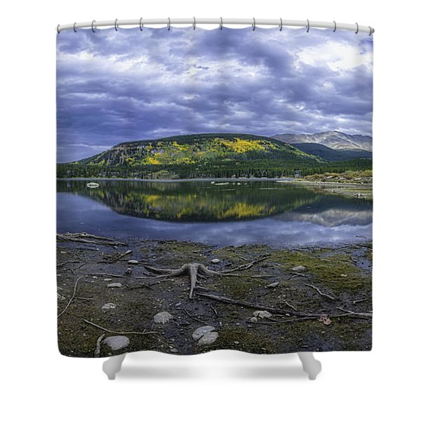 Goose Pasture Tarn Shower Curtain