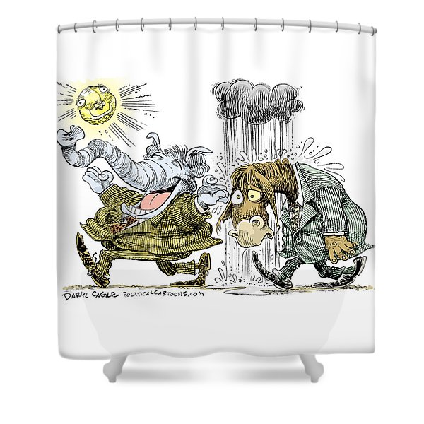 Gop Glee And Dem Doom Shower Curtain