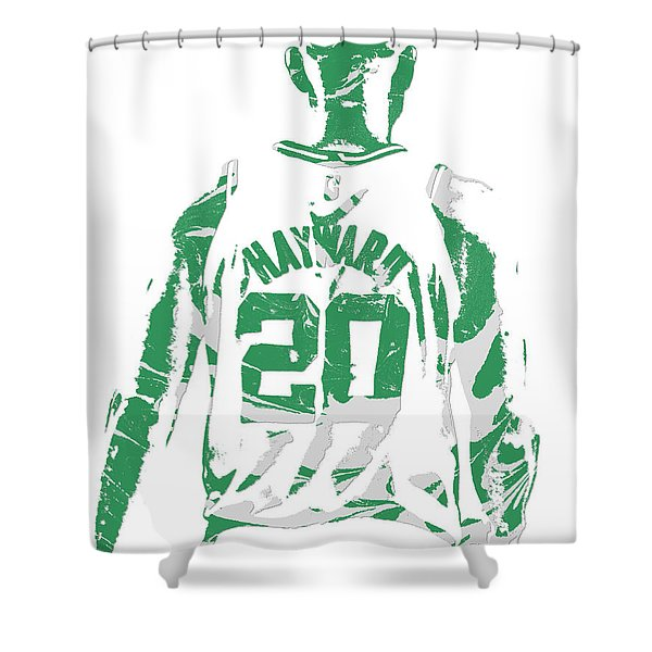 Gordon Hayward Boston Celtics Pixel Art T Shirt 5 Shower Curtain