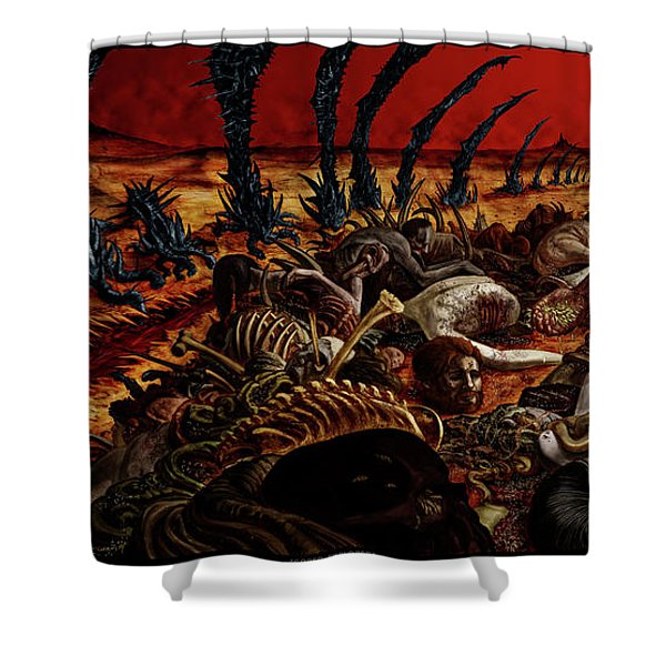 Gored-explored Shower Curtain