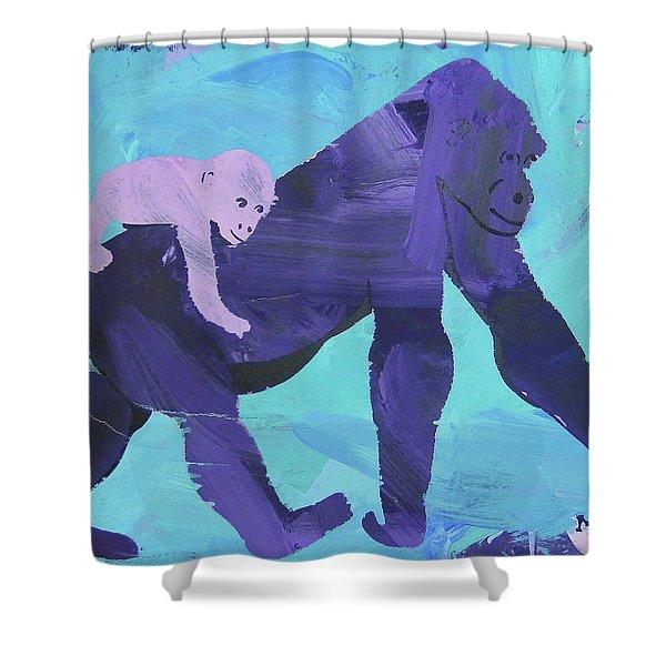 Gorgeous Gorilla Shower Curtain