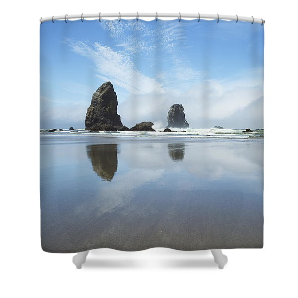 Gorgeous Reflections At Cannon Beach Shower Curtain